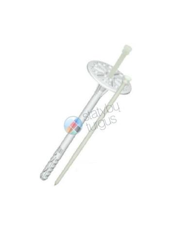 Smeigė LI 10x90mm su plastmasine vinimi, kaištis šilumos izoliacinėms medžiagoms tvirtinti