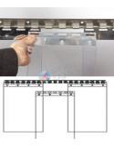 PVC juostų laikiklis, nerūdijančio plieno, plotis 200mm
