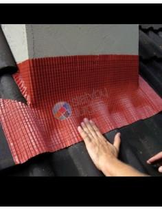 Kamino sandarinimo juosta, plotis 300mm, ilgis 5m, Raudonos plytos RAL8004