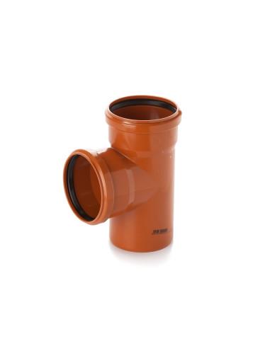 Trišakis lauko kanalizacijos PVC 110 x 110 x 110mm / 87*