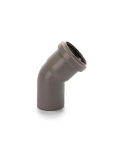 Alkūnė vidaus kanalizacijos PVC 50mm / 45*