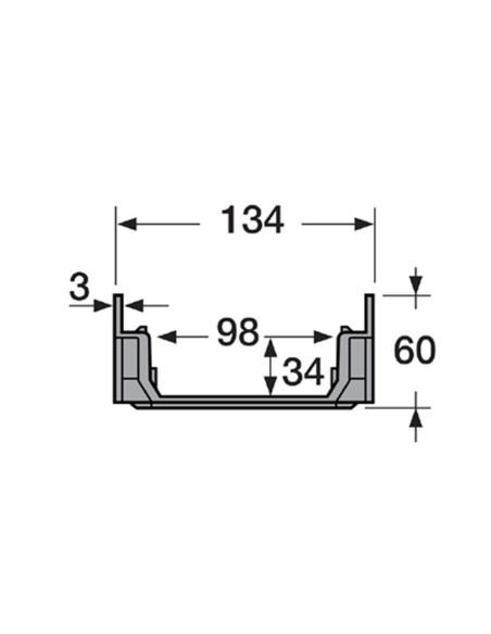 Grindinio latakas (kanalas) be grotelių Nicoll CAB773 [0.5m]
