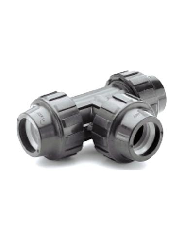 Trišakis PE vandentiekio vamzdžio 63x63x63mm PP užveržiamas