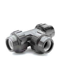 Trišakis PE vandentiekio vamzdžio 20x20x20mm PP užveržiamas