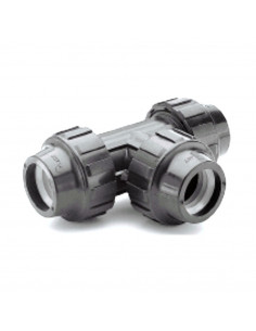 Trišakis PE vandentiekio vamzdžio 50x50x50mm PP užveržiamas