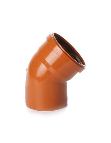 Alkūnė lauko kanalizacijos PVC 110mm / 45*