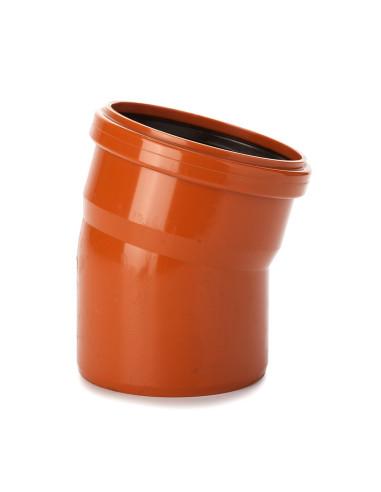 Alkūnė lauko kanalizacijos PVC 110mm / 15*