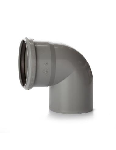 Alkūnė vidaus kanalizacijos PVC 110mm / 87*