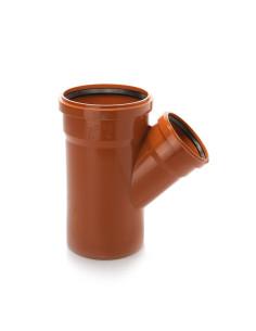 Trišakis lauko kanalizacijos PVC 250 x 110 x 250mm / 45*
