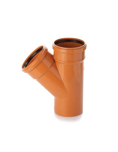 Trišakis lauko kanalizacijos PVC 250 x 250 x 250mm / 45*