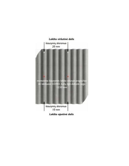 Banguoti lakštai EUROFALA 625x1150mm CO/HO Ruda Cembrit