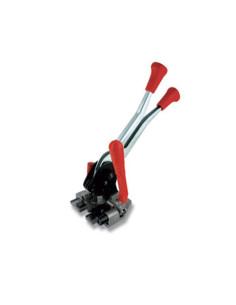 Prietaisas - įtempimo įrankis PP/PET juostai, naudojant skardines sagtis