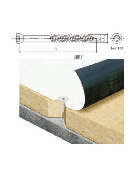 Sraigtas betonui 6.3x100mm TORX galvute ZN WBSW