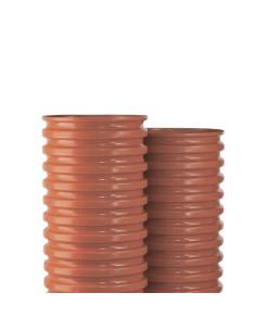 Šulinio stovas PVC 600mm gofruotas, ilgis 1m