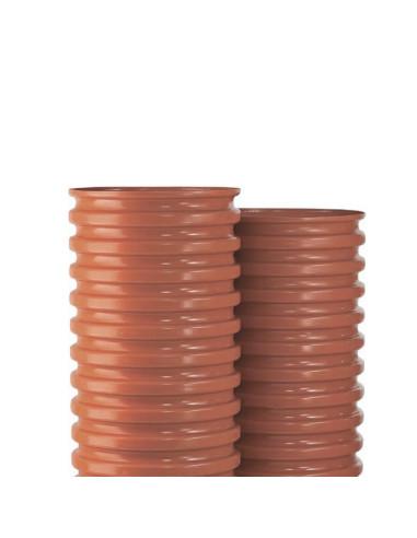 Šulinio stovas PVC 600mm gofruotas, ilgis 5m