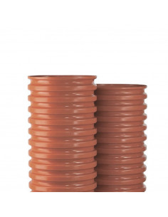 Šulinio stovas PVC 425mm gofruotas, ilgis 1m (Wavin)