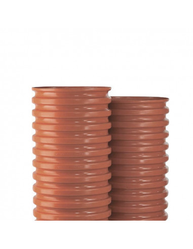 Šulinio stovas PVC 425mm gofruotas, ilgis 3m (Wavin)
