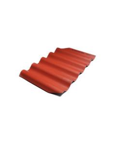 Banguoti lakštai BALTIJOS BANGA 875x920mm Tamsiai Raudona Eternit
