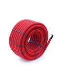 Vamzdis techninis 63mm gofruotas/lygus, raudonas, ilgis 50m