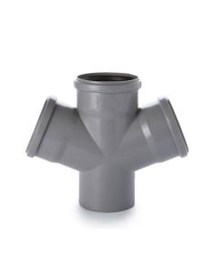 Keturšakis vidaus kanalizacijos PVC 110 x 110 x110mm / 67*