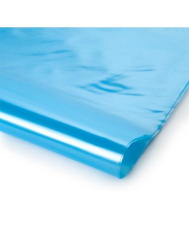 Stabilizuota mėlyna polietileno plėvelė, plotis 6m, storis 150