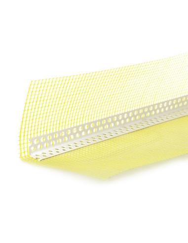 PVC profilis kampas su tinkleliu 10x15cm, ilgis 2.5m