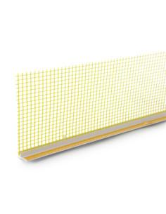 PVC profilis 108, aplink langus deformacinis 6mm su tinkleliu, ilgis 2.4m