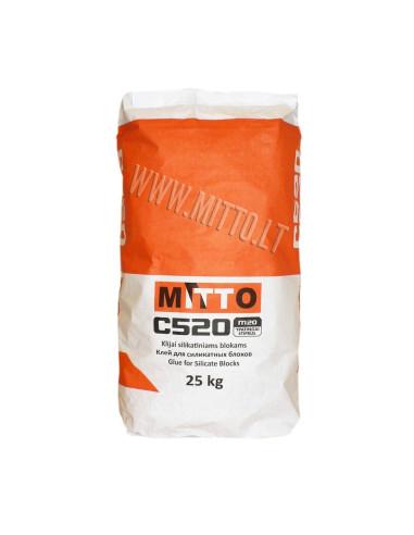 Klijai silikatiniams blokams C520 MITTO 25kg