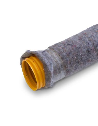 Drenažo vamzdis 92mm su geotekstilės filtru