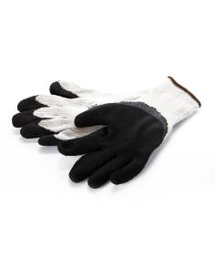 Pirštinės megztos pašiltintos aplietos putų lateksu, pilka/juoda, dydis 11