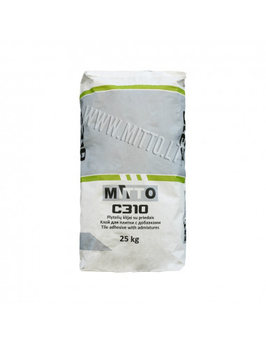 Klijai elastingi plytelių C310 MITTO 25kg