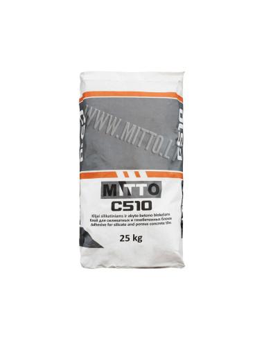 Klijai silikatiniams ir akyto betono blokams C510 MITTO 25kg