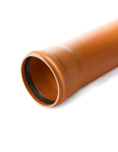Vamzdis lauko kanalizacijos PVC 110mm, ilgis 1m