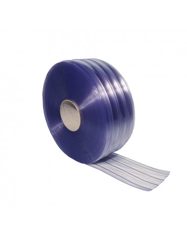 PVC juostų užuolaida, rifliuota, plotis 300mm, storis 3.0mm