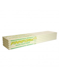 Ekstruzinis polistirenas XPS FI-300 FINNFOAM, storis 100mm, matmenys 600x2500mm