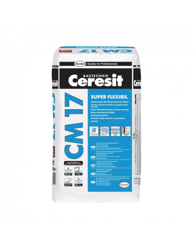 Klijai ypač elastingi plytelių CM17 Ceresit 25 kg