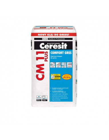 Klijai plytelių universalūs CM11 Comfort Plus Ceresit 25 kg