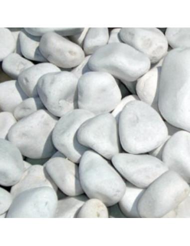Balti gludinti akmenys 15-25mm. 20kg.
