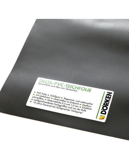 PVC plėvelė DELTA Teichfolie, atspari šaknims ir pūvimui, storis 1.0mm, plotis 8.0m