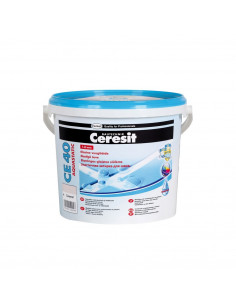Elastingas glaistas siūlėms CE40 Aquastatic Ceresit 5kg, spalva Antracito pilka 13