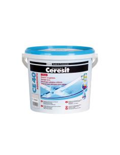 Elastingas glaistas siūlėms CE40 Aquastatic Ceresit 5kg, spalva Plytinė 49