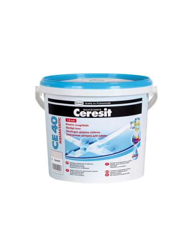 Elastingas glaistas siūlėms CE40 Aquastatic Ceresit 5kg, spalva Mėtos 64