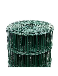 Tvoros tinklas ruloninis, aukštis 1,5m, akutė 100x75mm, žalias