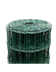 Tvoros tinklas ruloninis, aukštis 1.5m, akutė 100x50mm, žalias