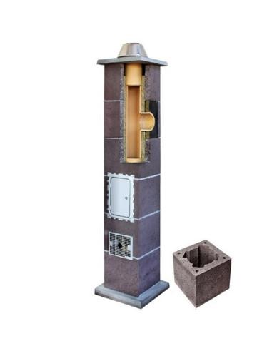 Kamino komplektas be ventiliacinio kanalo, diametras 180mm, aukštis 6.66m, LEIER