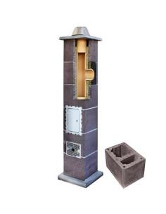 Kamino komplektas su ventiliaciniu kanalu, diametras 200mm, aukštis 6.0m, LEIER