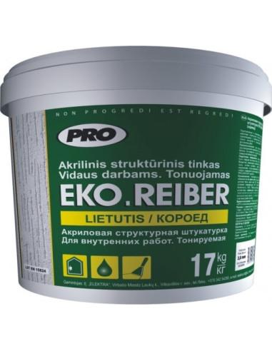 Akrilinis struktūrinis tinkas EKO.REIBER Frakcijos dydis 1,5mm 17kg