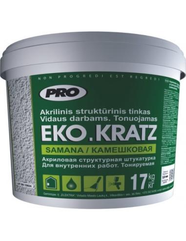 Akrilinis struktūrinis tinkas EKO.KRATZ Frakcijos dydis 2,0mm 17kg