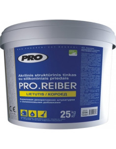 Akrilinis struktūrinis tinkas PRO.REIBER Frakcijos dydis 3.0mm 25kg (lietutis)