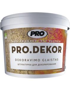 Dekoravimo glaistas PRO.DEKOR VID (vidutinio grūdėtumo) 15kg